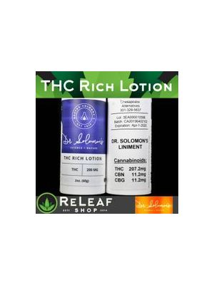 ReLeaf THC Rich Lotion by Dr. Solomon's - $50