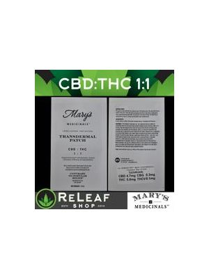 1:1 CBD THC Patch by Mary's - $18