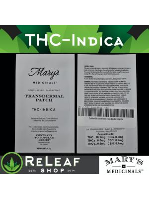 ReLeaf Indica Patch by Mary's Medicinals - $20