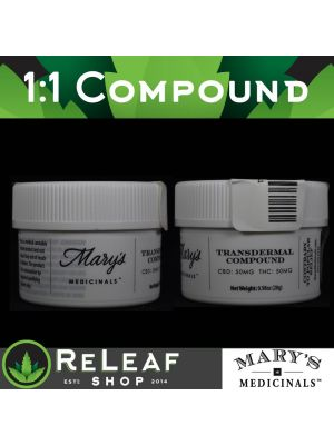 ReLeaf Mary's Compound 100mg 1:1 by Mary's Medicinals - $50