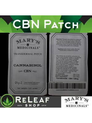 ReLeaf CBN Transdermal 10mg Patch by Mary's Medicinals - $22