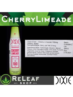 ReLeaf Cherry Limeade Elixir 100mg by Dixie - $20