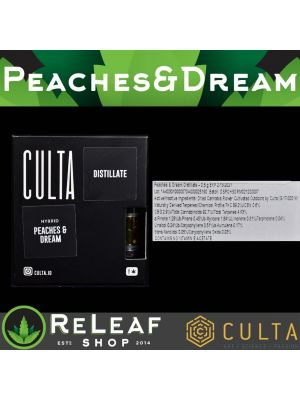 ReLeaf Culta Peaches and Dream 0.5g Cartridge by Culta - $50