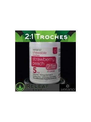 Strawberry Peach 2:1 Troches by Verano - $30